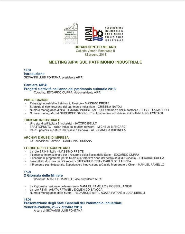 AIPAI Meeting Patrimonio Industriale