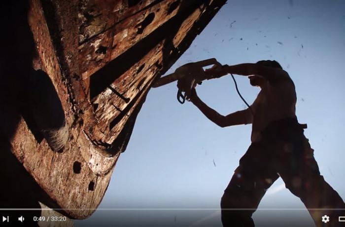 Restauro di nave in legno, a cura di Maurizio Borriello