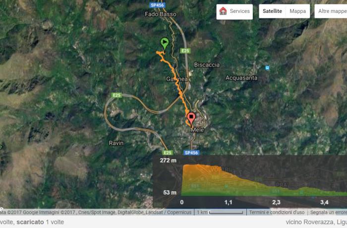 Percorso cartiere in Valle Gorsexio (Mele-Voltri, Genova)