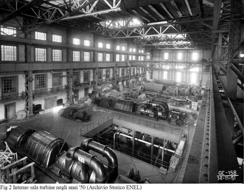 Sala Turbine Centrale Termoelettrica del porto di Genova