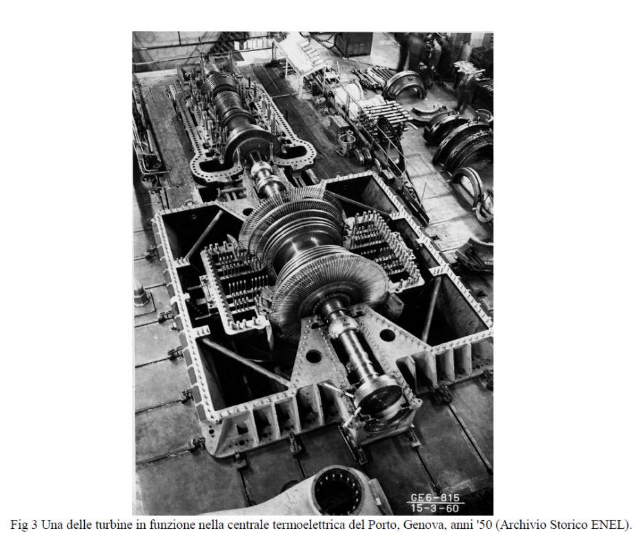 Turbine in funzione Centrale Termoelettrica del porto di Genova
